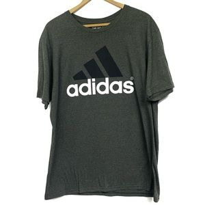 Adidas Logo Grey T shirt
